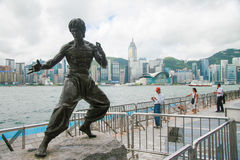 Bruce Lee Statue in Hong Kong Royalty Free Stock Images