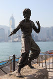 Bruce Lee Statue in Hongkong Stock Fotografie