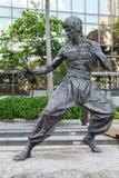 Bruce Lee staty, trädgård av stjärnor Arkivfoton