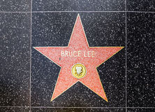 Bruce Lees star on Hollywood Walk Royalty Free Stock Photo