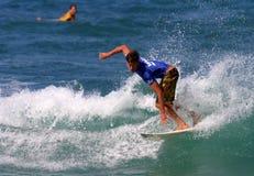 Bruce passa a pro competição havaiana foto de stock royalty free