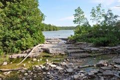 Bruce Peninsula dans l'heure d'été, Ontario, Canada images libres de droits
