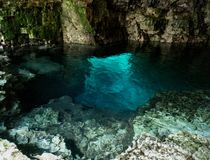 The grotto. Bruce peninsula national park blue grotto rocks cave royalty free stock photo