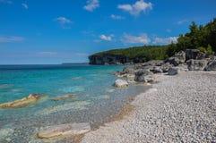 Bruce Pensinsula nas horas de verão, Ontário, Canadá foto de stock royalty free