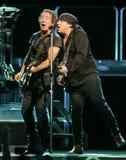Bruce Springsteen avec E Street Band exécute photo libre de droits