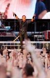 Bruce springsteen, framstickandet på konserten Arkivfoto