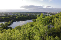 Bruce Vento Scenic Overlook in Saint Paul Royalty Free Stock Photography