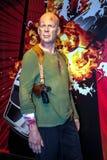 Bruce Willis como John McClane no museu da cera da senhora Tussaud, Londres fotos de stock