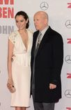 Bruce Willis e Emma Heming fotografia de stock