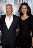 Bruce Willis e Emma Heming imagem de stock