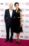 Bruce Willis e Emma Heming imagem de stock royalty free