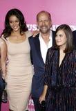 Bruce Willis e Emma Heming fotos de stock