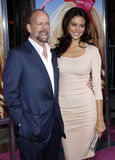 Bruce Willis e Emma Heming fotos de stock royalty free