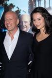 Bruce Willis, Emma Heming imagem de stock royalty free
