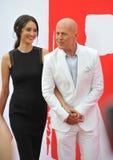 Bruce Willis & Emma Heming Royaltyfria Foton