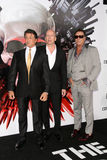 Bruce Willis,Mickey Rourke,Sylvester Stallone. Sylvester Stallone and Bruce Willis and Mickey Rourke  at the The Expendables Film Screening, Chinese Theater Stock Photography