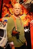Bruce Willis - Salão das celebridades fotografia de stock