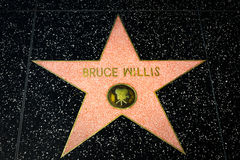 Bruce Willis Star auf dem Hollywood-Weg des Ruhmes Stockfotografie