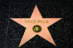 Bruce Willis Star na caminhada de Hollywood da fama fotografia de stock
