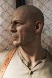 Bruce Willis Wax Figure Arkivbilder