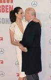 Bruce Willis y Emma Heming Foto de archivo libre de regalías