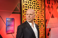 Bruce Willis-Zahl am Wachsmuseum Madame Tussauds in Istanbul stockfotografie