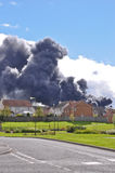 Brucefield fire in West Lothian Stock Photos