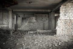 Bruch in einer alten Backsteinmauer Lizenzfreies Stockfoto