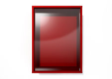 Bruch-im Notfall roter Kasten stockfotografie