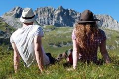 Bruch während eines wandernden Ausflugs Lizenzfreies Stockfoto