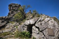 Bruchhauser-steine entsteint Deutschland Stockfoto