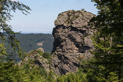 Bruchhauser-steine entsteint Deutschland Stockfotos