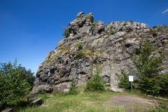 Bruchhauser steine stones germany. The bruchhauser steine stones germany stock photo