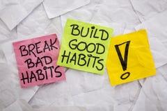 Bruchschlechtes, bauen gute Gewohnheiten auf Stockfoto