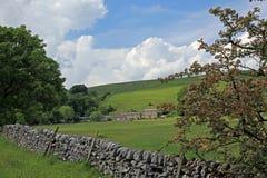 Bruchsteinwand in Derbyshire England Lizenzfreie Stockbilder