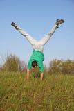 Bruchtanz auf Gras Lizenzfreie Stockfotos