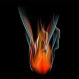 Bruci il fondo dell'estratto del fuoco della fiamma Immagine Stock