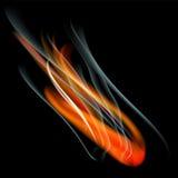 Bruci il fondo dell'estratto del fuoco della fiamma Fotografia Stock Libera da Diritti