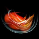 Bruci il fondo dell'estratto del fuoco della fiamma Fotografie Stock Libere da Diritti