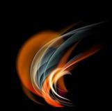 Bruci il fondo dell'estratto del fuoco della fiamma Fotografia Stock