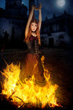 Bruci la strega Fotografia Stock