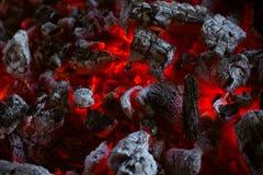 Brucia senza fiamma la struttura del carbone fotografia stock