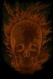 Bruciando in cranio delle fiamme Immagine Stock