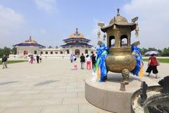 Bruciaprofumi di rame del mausoleo di khan di genghis, adobe rgb immagini stock libere da diritti