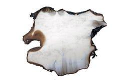 Bruciato di carta nella figura irregolare Immagini Stock