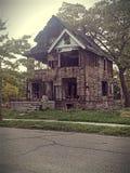 Bruciato fuori alloggi Detroit Immagine Stock