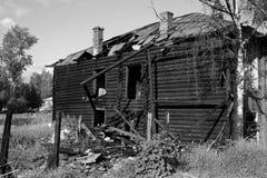 Bruciato giù la casa Immagine Stock