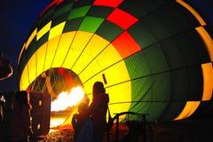 Bruciatore del baloon dell'aria calda immagine stock libera da diritti