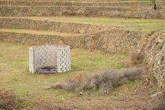 Bruciatore del rifiuto agricolo Immagini Stock Libere da Diritti