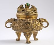 Bruciatore di incenso asiatico tradizionale Fotografia Stock